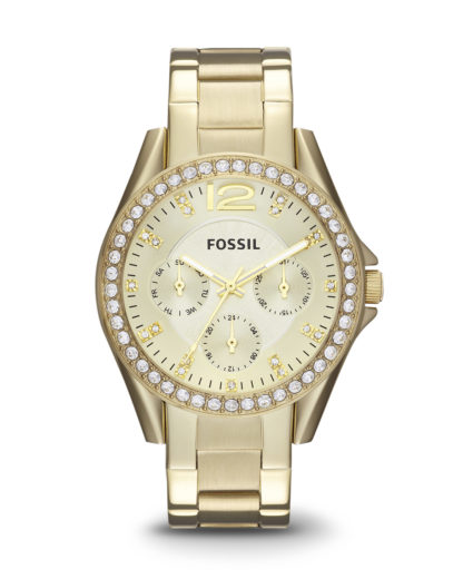 Quarzuhr Riley ES3203 FOSSIL gold 4051432733024