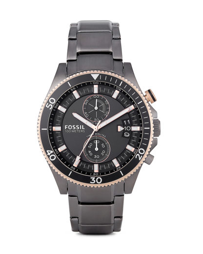 Chronograph Wakefield CH2948 FOSSIL roségold,schwarz,silber 4053858351561
