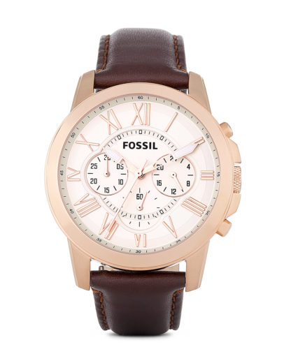 Chronograph Grant FS4991 FOSSIL braun,roségold,silber 4053858360419