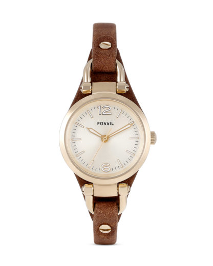 Quarzuhr Georgia Mini ES3264 FOSSIL beige,braun,gold 4051432944192