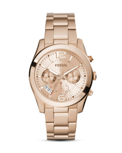 Quarzuhr Perfect Boyfriend ES3885 FOSSIL roségold 4053858564305