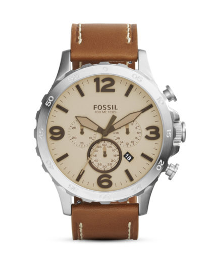 Chronograph Nate JR1503 FOSSIL beige,braun,silber 4053858573376