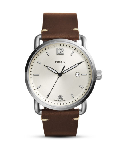 Quarzuhr The Commuter FS5275 FOSSIL beige,braun,silber 4053858817180
