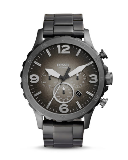 Chronograph Nate JR1437 FOSSIL Silber 4051432846649