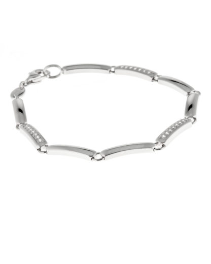 Armband aus 925 Sterling Silber mit Zirkonia FOSSIL 4053858277038