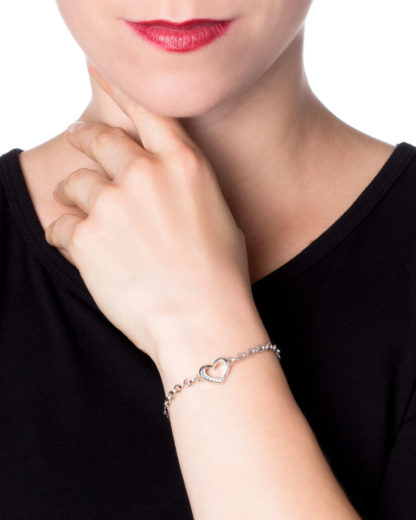 Armband 925 Sterling Silber Fossil silber Zirkonia 4053858277342