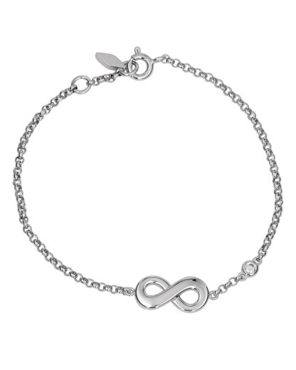 Armband Infinitive Love aus 925 Sterling Silber FOSSIL Silber Zirkonia 4053858658493