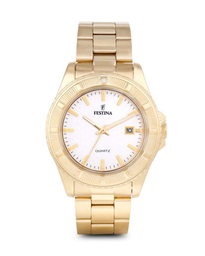 Quarzuhr Quarzuhr Boyfriend Collection f16682/1 Festina gold,weiß 8430622579974