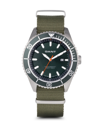 Quarzuhr SEABROOK MILITARY in Grün W70634 GANT TIME grün 7340015325785
