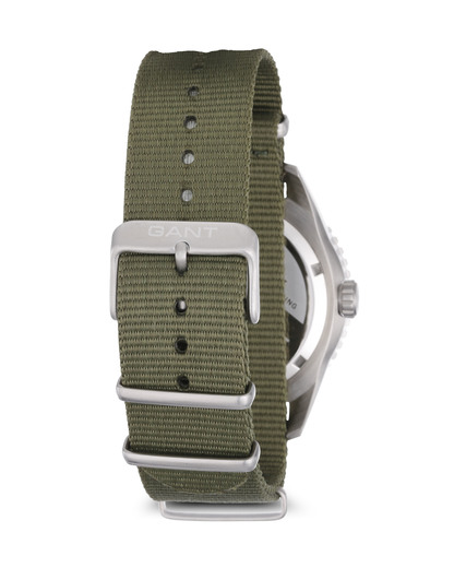 Quarzuhr SEABROOK MILITARY in Grün W70634 GANT TIME Herren Stoff 7340015325785