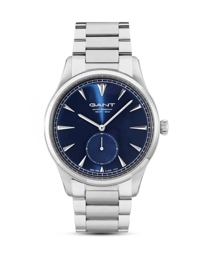Quarzuhr Huntington W71008 GANT TIME blau,silber 7340015328144