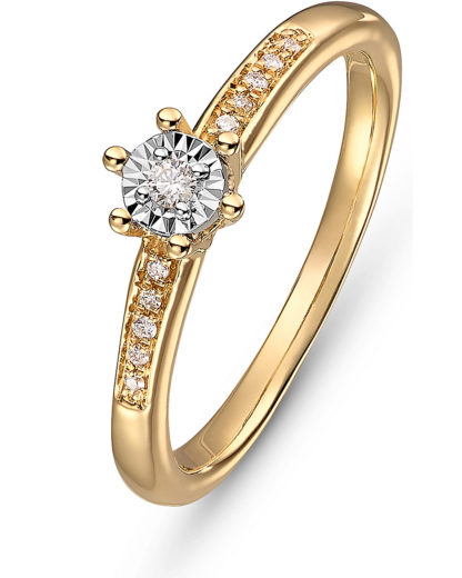 Damen-Ring 375er Gelbgold 11 Diamant Guido Maria Kretschmer
