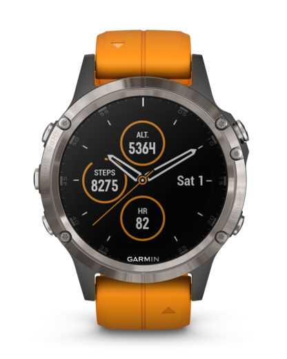 Smartwatch Fēnix® 5 Plus Saphir Edition 010-01988-05 GARMIN grau,orange,schwarz 753759197667