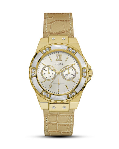 Quarzuhr Limelight W0775L2 GUESS beige,gold,weiß 91661458989