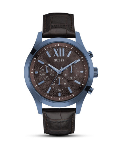 Chronograph Elevation W0789G2 GUESS blau,braun 91661459160