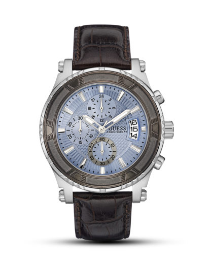 Chronograph Pinnacle W0673G1  GUESS blau,braun,silber 91661452727