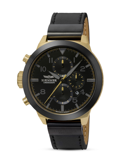 Chronograph Performer HF-06 HÆMMER GERMANY gold,schwarz 4260207812615
