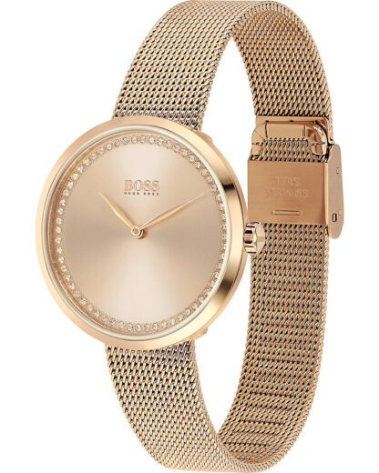 Hugo Boss Damen-Uhren Analog Quarz Hugo Boss Damen Edelstahl 7613272390323