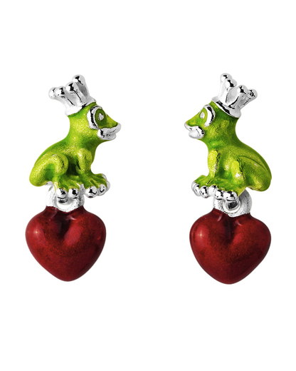 Ohrstecker Froggy 925 Sterling Silber Heartbreaker 4260168184806