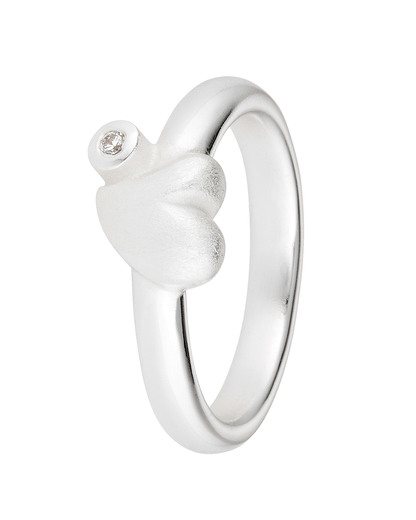 Ring Love 925 Sterling Silber-Zirkonia Heartbreaker