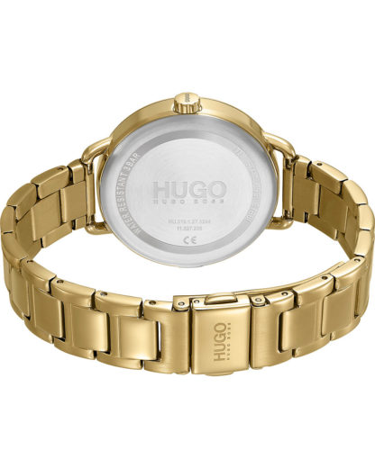 Hugo Damen-Uhren Analog Quarz HUGO gold 7613272417136