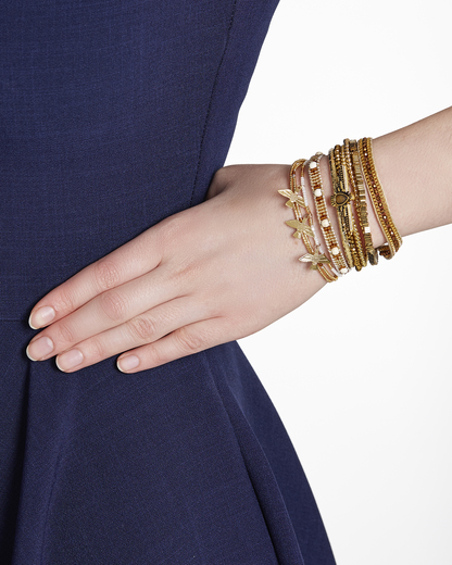 Armband Ohmygold aus Messing & Stoff HIPANEMA gold Harz 3700839112970