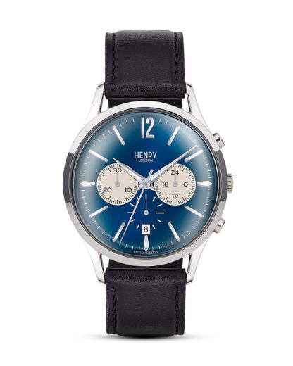 Chronograph Knightsbridge HL41-CS-0039 Henry London blau,schwarz,silber 5018479078173