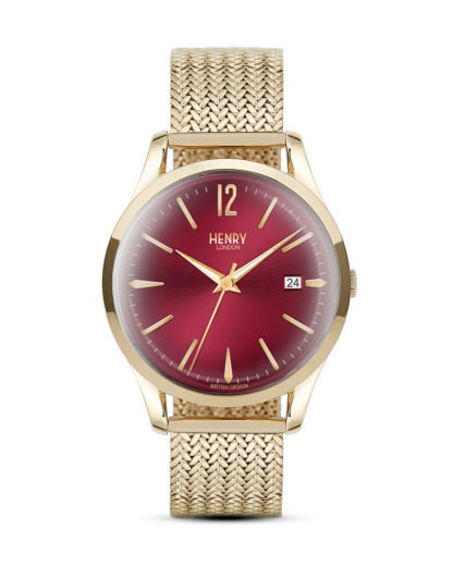 Quarzuhr Holborn HL39-M-0062 Henry London gold,rot 5018479077671