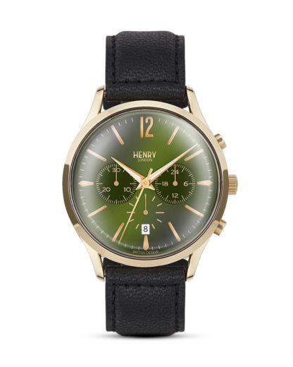 Chronograph Chiswick HL41-CS-0106 Henry London gold,grün,schwarz 5018479078210