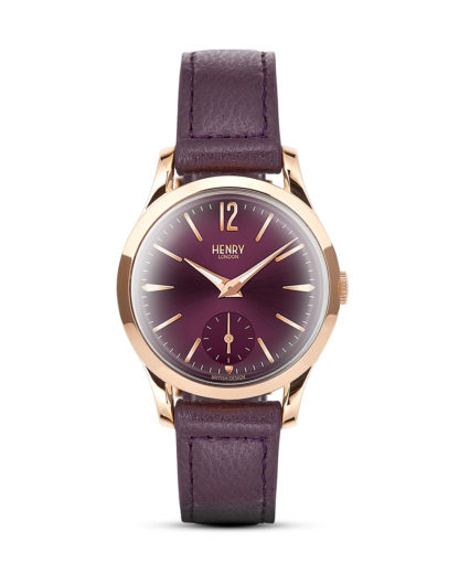 Quarzuhr Hampstead HL30-US-0076 Henry London roségold,violett 5018479077503