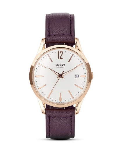 Quarzuhr Hampstead HL39-S-0082 Henry London roségold,silber,violett 5018479077855