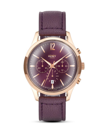 Chronograph Hampstead HL39-CS-0092 Henry London roségold,violett 5018479077954