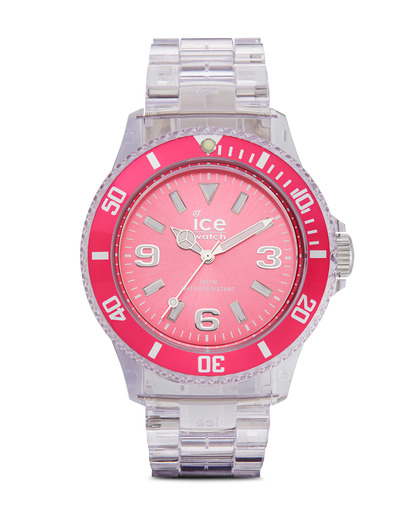 Quarzuhr Ice-Pure Unisex PUPKUP12 Ice Watch klar,pink 4895164002917