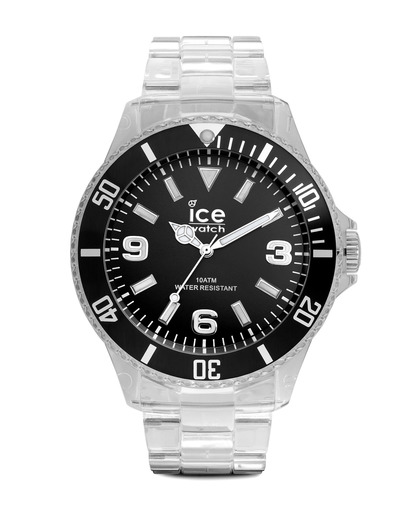 Quarzuhr Ice-Pure Big PUATBP12 Ice Watch klar,schwarz 4895164002931
