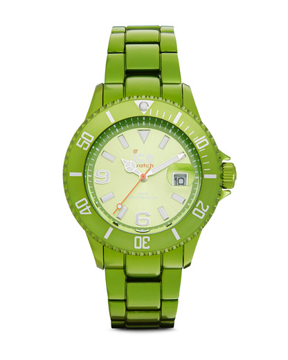 Quarzuhr Ice-Alu Unisex ALGNUA12 Ice watch grün 4895164001279