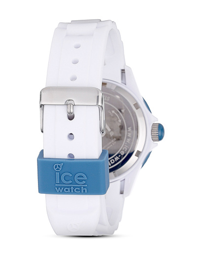 Quarzuhr Ice White Jeans SIWJUS11 Ice Watch Damen,Herren Silikon 4895164001088