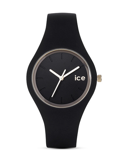 Quarzuhr Ice Glam klein ICEGLBKSS14 Ice Watch gold,schwarz 4895164009428