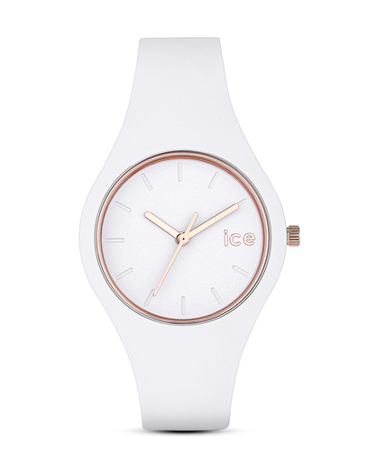 Quarzuhr Ice Glam klein ICEGLWRGSS14 Ice Watch weiß 4895164008384
