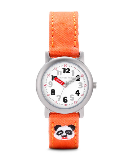 Quarzuhr Öko Panda Orange ORG 4444 JACQUES FAREL orange,silber,weiß 4037921035091