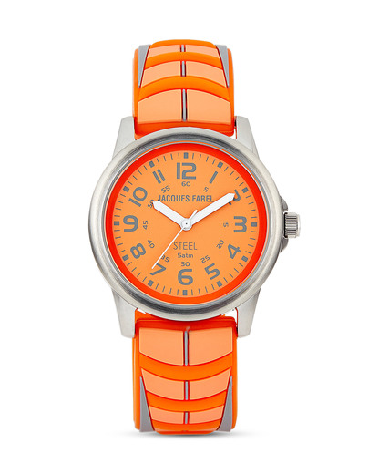 Quarzuhr Neon SBR 282 JACQUES FAREL orange 4893135019438