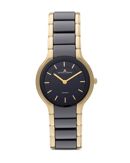 Quarzuhr Dublin 1-1582C JACQUES LEMANS gold,schwarz 4040662102656