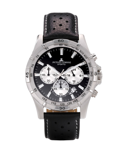 Chronograph MONTREAL 1-1670A JACQUES LEMANS schwarz,silber 4040662107491