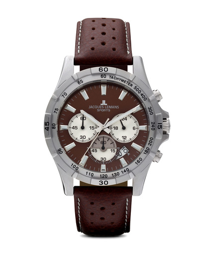 Chronograph Montreal 1-1670D JACQUES LEMANS braun,silber 4040662107538