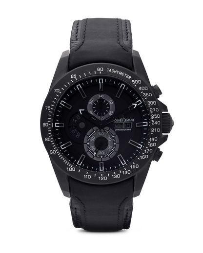 Chronograph Liverpool GMT 1-1635C JACQUES LEMANS grau,schwarz 4040662104827
