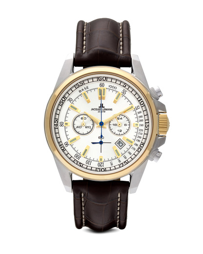 Chronograph Liverpool 1-1117DN JACQUES LEMANS braun,gold,silber 4040662084303