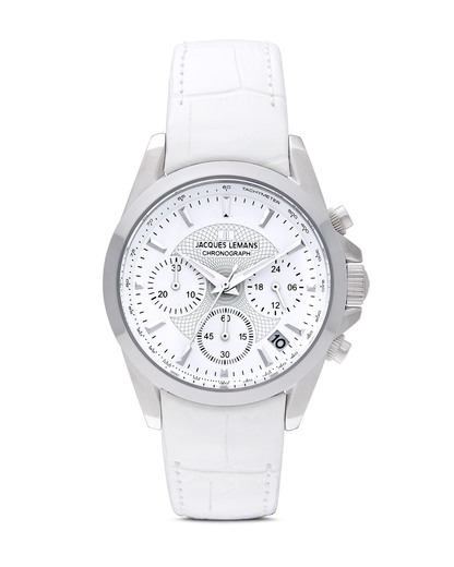 Chronograph Liverpool 1-1752B JACQUES LEMANS silber,weiß 4040662112921