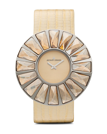 Quarzuhr Flora 1-1638K JACQUES LEMANS gold,silber 4040662110156