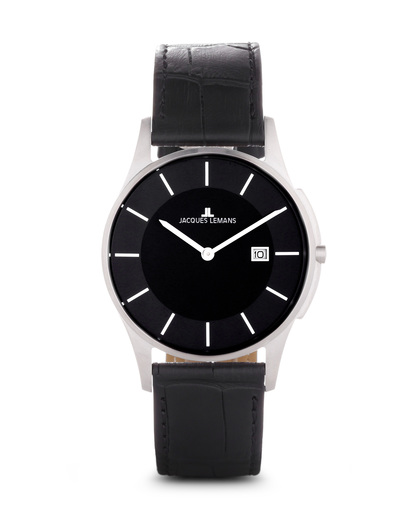Quarzuhr London 1-1777B JACQUES LEMANS schwarz 4040662115854