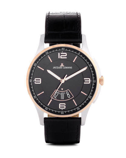 Quarzuhr London 1-1736E JACQUES LEMANS roségold,schwarz 4040662113690