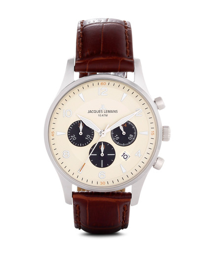 Chronograph London 1-1654E JACQUES LEMANS braun 4040662116509